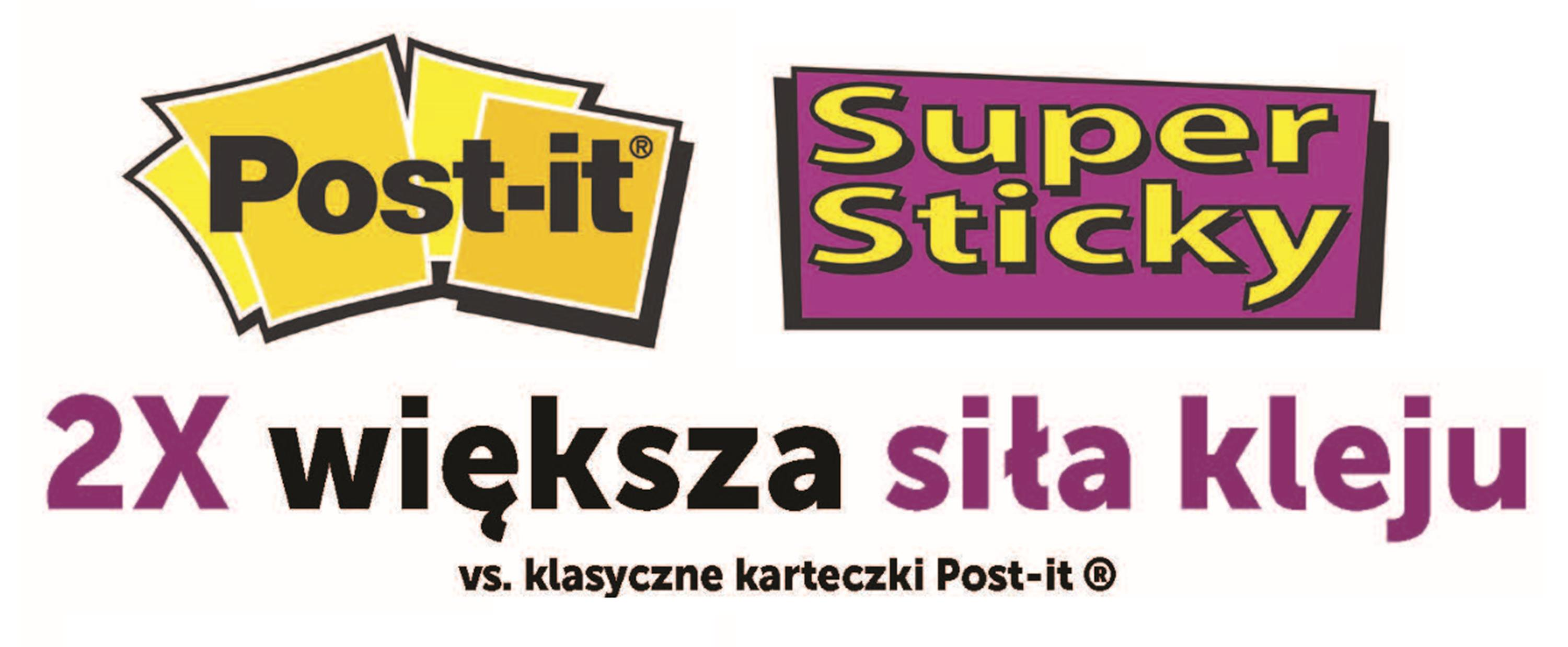Super sticky karteczki post-it